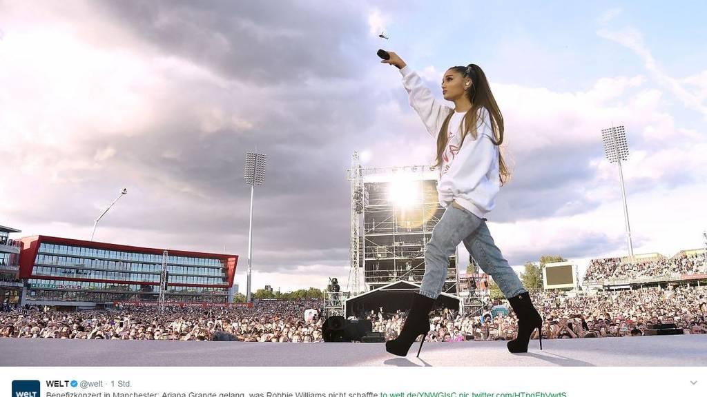 Benefizkonzert gegen Terror: 50'000 Musikfans in Manchester
