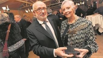 So sind sie: Auch grosse Erfolge feiern Alicia und Rolf Soiron diskret und leise – die Träger des Basler Sterns 2011.