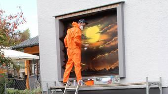 Mit dem Sprayen verdient er seinen Lebensunterhalt: Graffiti-Künstler Phillipe Baro.