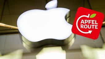 Apple stört sich am Logo der Rheinischen Apfelroute.