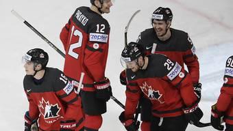 Jubeln die Kanadier auch nach dem Spiel gegen Russland?