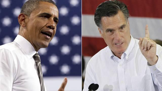 US-Präsident Barack Obama und sein Herausforderer Mitt Romney