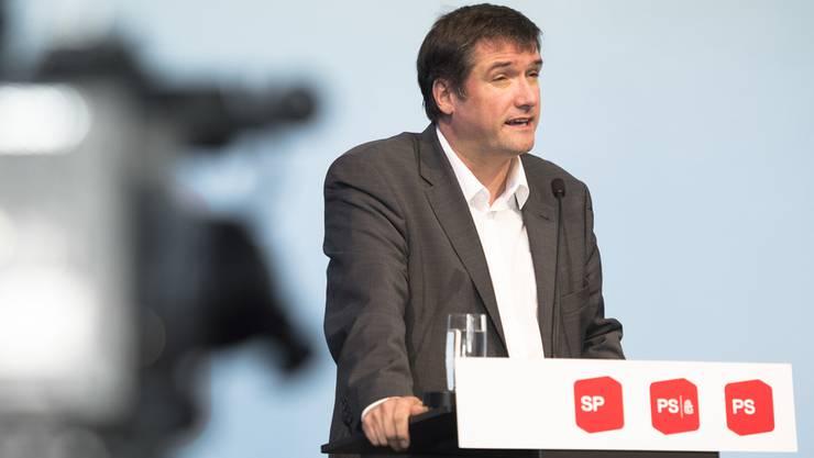 SP-Präsident Christian Levrat warnt an der Delegiertenversammlung in St. Gallen vor Kriegshetze.