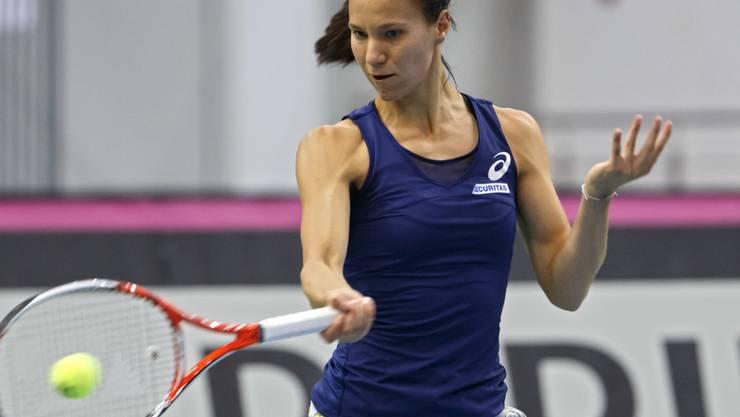 Viktorija Golubic trifft am Samstag auf Alexandra Sasnowitsch