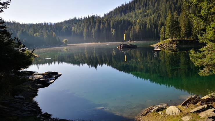 Sehr hoch im Kurs: Bergseen wie der Caumasee.