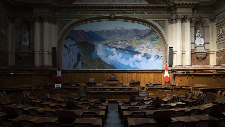 Der Nationalratssaal ist zwar verwaist, die Kommissionen sind aber hinter den Kulissen an der Arbeit.