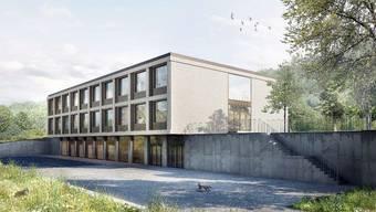 Visualisierung neues Schulhaus Holderbank in Gemeindeversammlungsunterlagen
