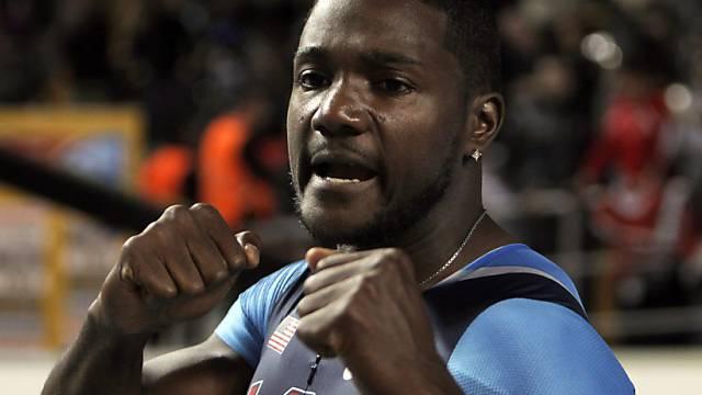 Justin Gatlin setzte sich über 100 Meter gegen Asafa Powell durch