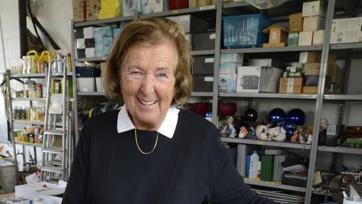 Ruth Galli in ihrem Reich: Die «Süüferli» sind schön gross und kräftig gewachsen