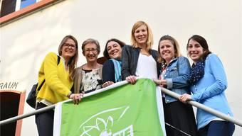 Die Grünen feiern auf dem Ziegelhof-Areal in Liestal ihren Sieg.