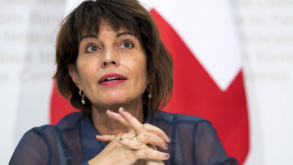"""Laut Bundesrätin Doris Leuthard hätte sich die Volksinitiative """"Grüne Wirtschaft"""" negativ auf die Wirtschaft und die Haushalte ausgewirkt."""