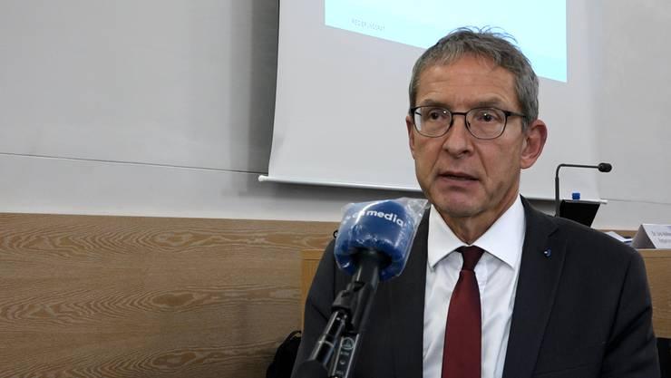Regierungsrat Urs Hofmann im Interview nach der Medienkonferenz vom 2. Dezember 2020.