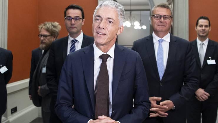 Bundesanwalt Michael Lauber nach seiner Wiederwahl durch die Bundesversammlung am Mittwoch, 25. September 2019.