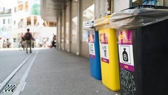 Das Abfallsystem an der Badenfahrt