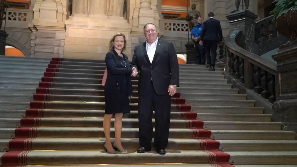 US-Aussenminister Pompeo zu Besuch in Bern