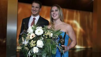 Die Titelverteidiger: Dario Cologna und Giulia Steingruber.