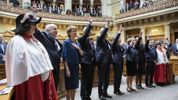 Der neu gewählte Bundesrat am 11. Dezember 2019