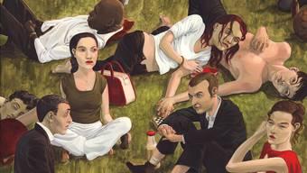 «Déjeuner sur l'herbe» anno 2007: Andreas Gefes «Herzrasen» erinnert an den Klassiker von Éduard Manet.