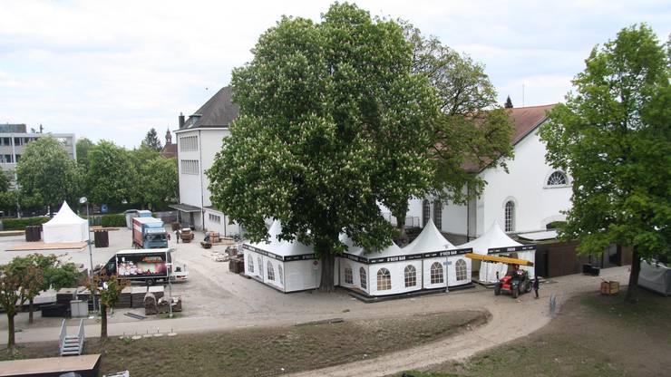 Vereinzelt fielen auch Vorschläge im Zusammenhang mit den Kastanienbäumen am Platzrand.