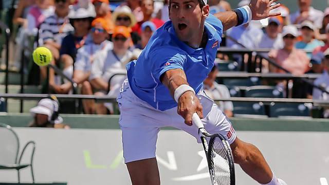 Akrobatisch: Novak Djokovic war in Miami einmal mehr unschlagbar