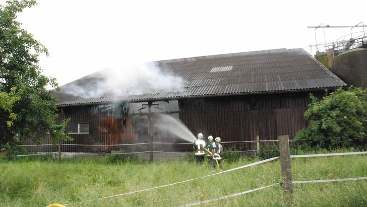 In Kappel ist in einer Scheune gelagertes Heu in Brand geraten.