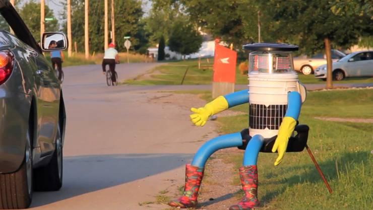 Der trampende Roboter wurde zum Medienphänomen. (Archivbild)