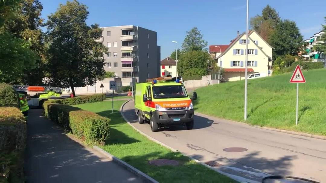 Übung Feuerwehr Engstringen