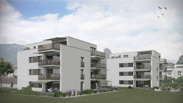 Die Visualisierung des Projektes der ZSB-Architekten: Etwas weniger, dafür grössere Wohnungen