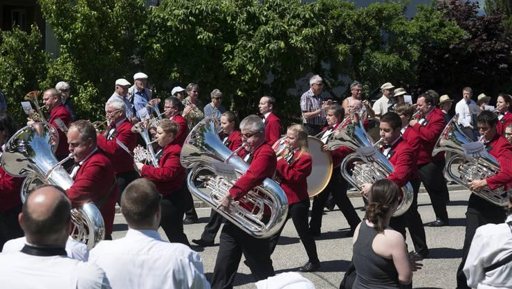 Musiktag Kriegstetten Parademusik Samstag, Brass Band Matzendorf
