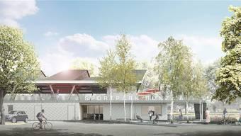 Visualisierung des Sportparks Bünzmatt, mit dessen Bau in den nächsten Tagen begonnen wird. zvg