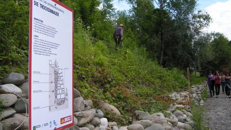 Der Lehrpfad der Kies Merz AG in Birmenstorf.
