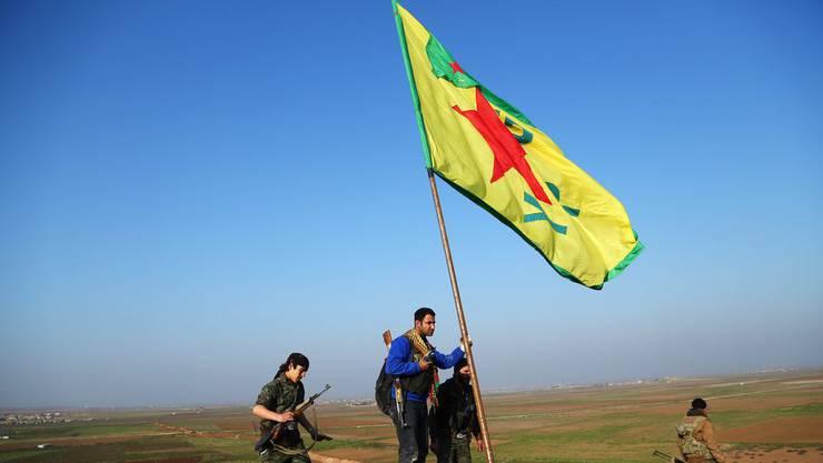 Syrische Kurden nahe Kobane. (Archiv)