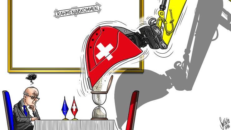 In der Schweiz geht es bezüglich Rahmenabkommen nicht vorwärts.