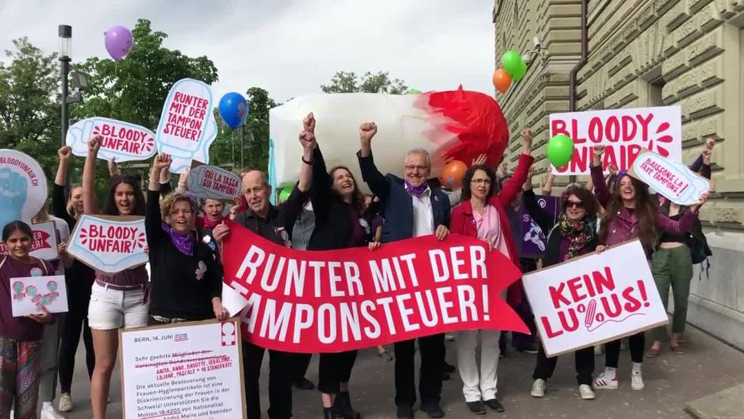 Frauenstreik 2019 - Runter mit der Tamponsteuer