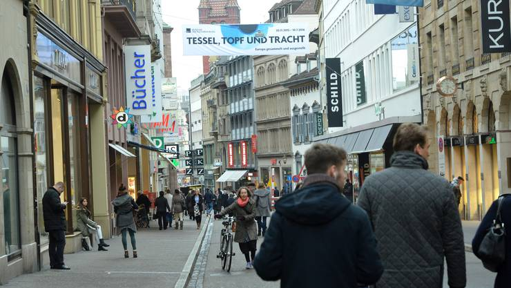 An Heiligabend bleiben die Geschäfte in der Basler Freien Strasse geschlossen.