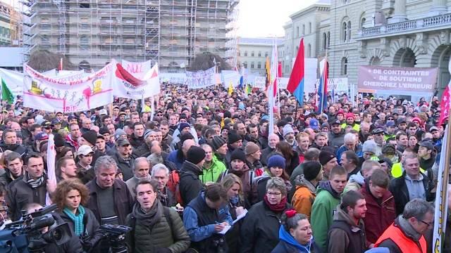 Tausende Bauern demonstrieren in Bern