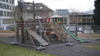 Der Spielplatz im Chantier wurde von der Stadt Solothurn vorsorglich gesperrt.