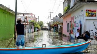 Ueberflutete Strassen im Bundesstaat Tabasco