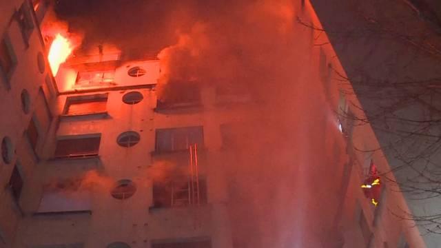 Mindestens sieben Tote bei Grossbrand in Paris