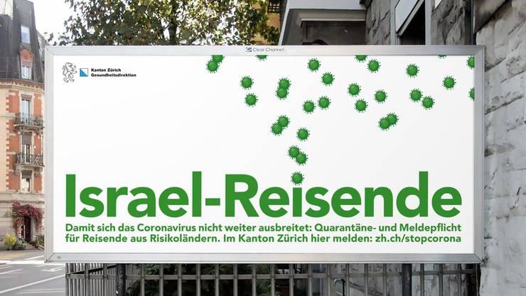 Stein des Anstosses: Plakat zur Durchsetzung der Quarantänepflicht.