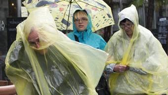 Regen überflutet die Schweiz