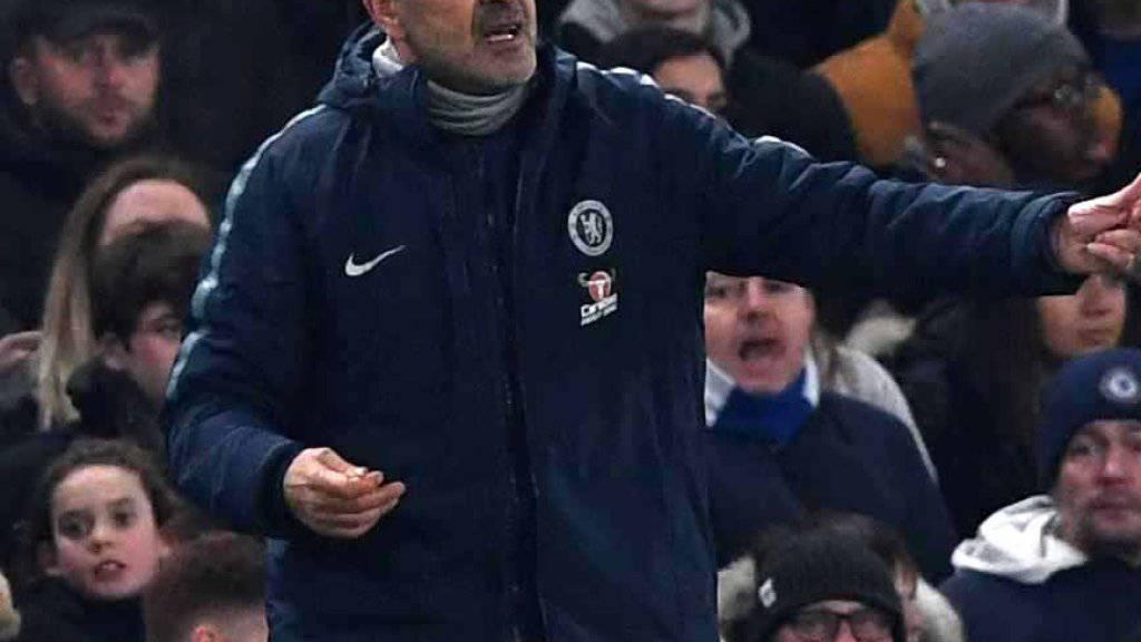 Chelseas  Trainer Maurizio Sarri verlangte von seinen Spielern Erklärungen für eine desaströse Leistung