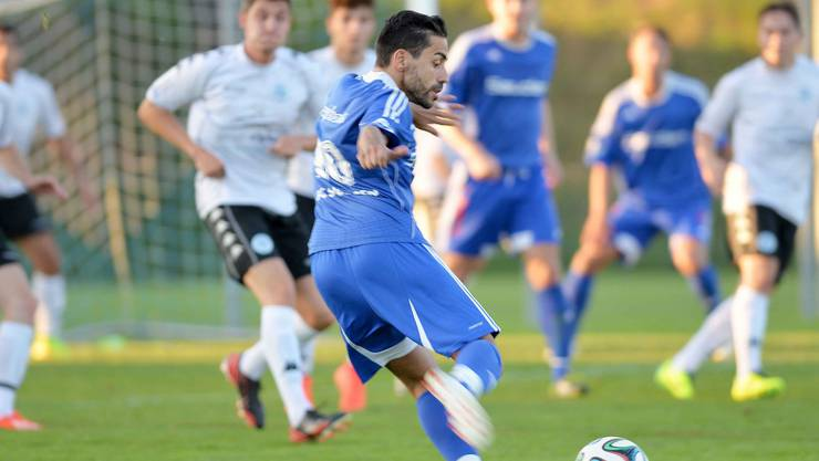 Subingen Alessandro Fragale erzielt das 2:0 gegen Iliria.