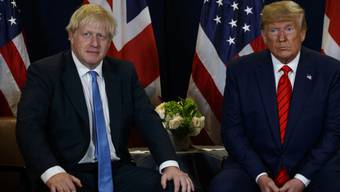 Der britische Premierminister Boris Johnson (links) und US-Präsident Donald Trump am Rande der Uno-Vollversammlung im September in New York. (Archivbild)