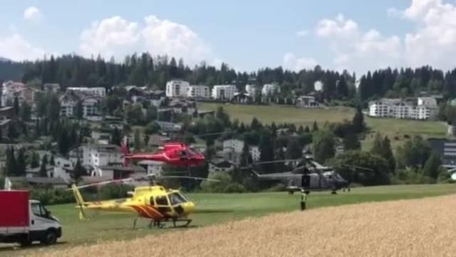 Rettungseinsatz nach Flugzeugabsturz der «Tante Ju» in Flims