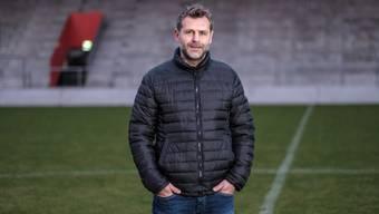 Winterthur-Trainer Sven Christ posiert auf der Schützenwiese