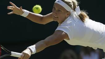 Vergeblich gestreckt: Petra Kvitova scheiterte in Wimbledon überraschend bereits in der 3. Runde