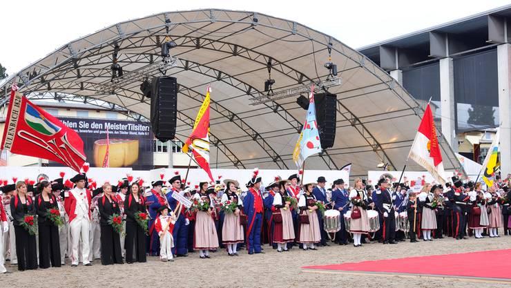Nach dem Festumzug präsentierte sich der Kanton Solothurn am Samstagnachmittag auch an der grossen Arena-Show.