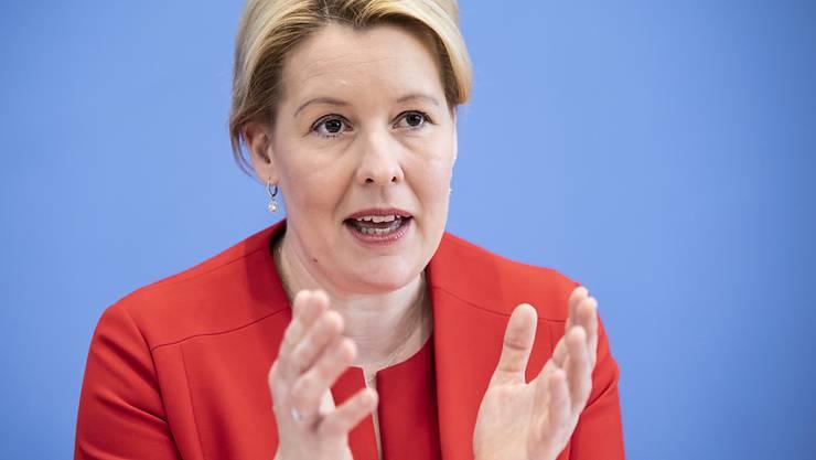 Die deutsche Familienministerin Franziska Giffey will, dass die Gleichstellung von Mann und Frau auf allen Ebenen der Gesellschaft umgesetzt wird. (Archivbild)