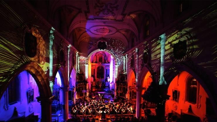 Lichtspektakel am Stadtfest 2012.